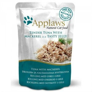 Applaws Pouches Tender Tuna with Mackerel in tasty Jelly