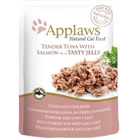 Applaws Pouches Tender Tuna with Salmon in tasty Jelly