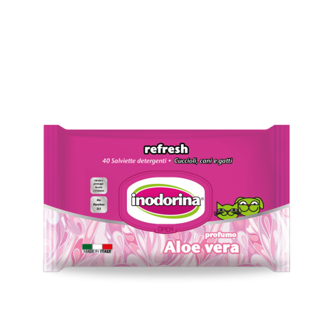 Inodorina Wet Wipes Refresh, Aloe Vera