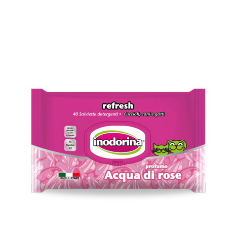 Inodorina Wet Wipes Refresh, Rose Water