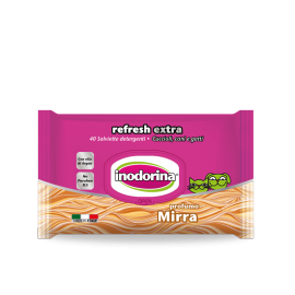 Inodorina Wet Wipes Refresh Extra, Myrrh