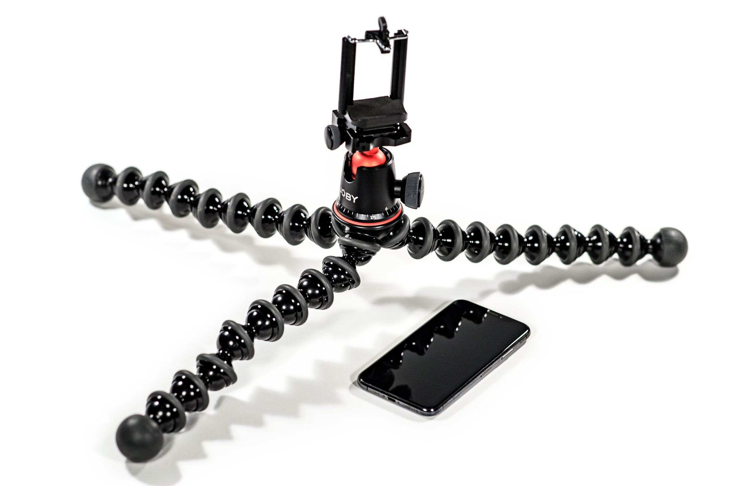 Tripod and Iphone for creating spinning product images
