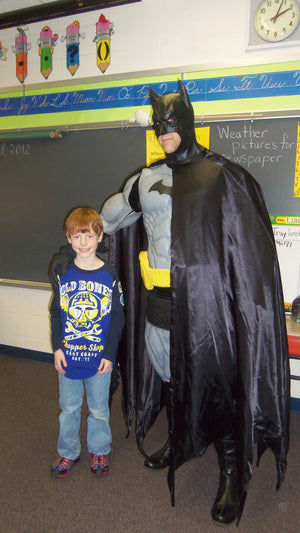 Cole with Batman