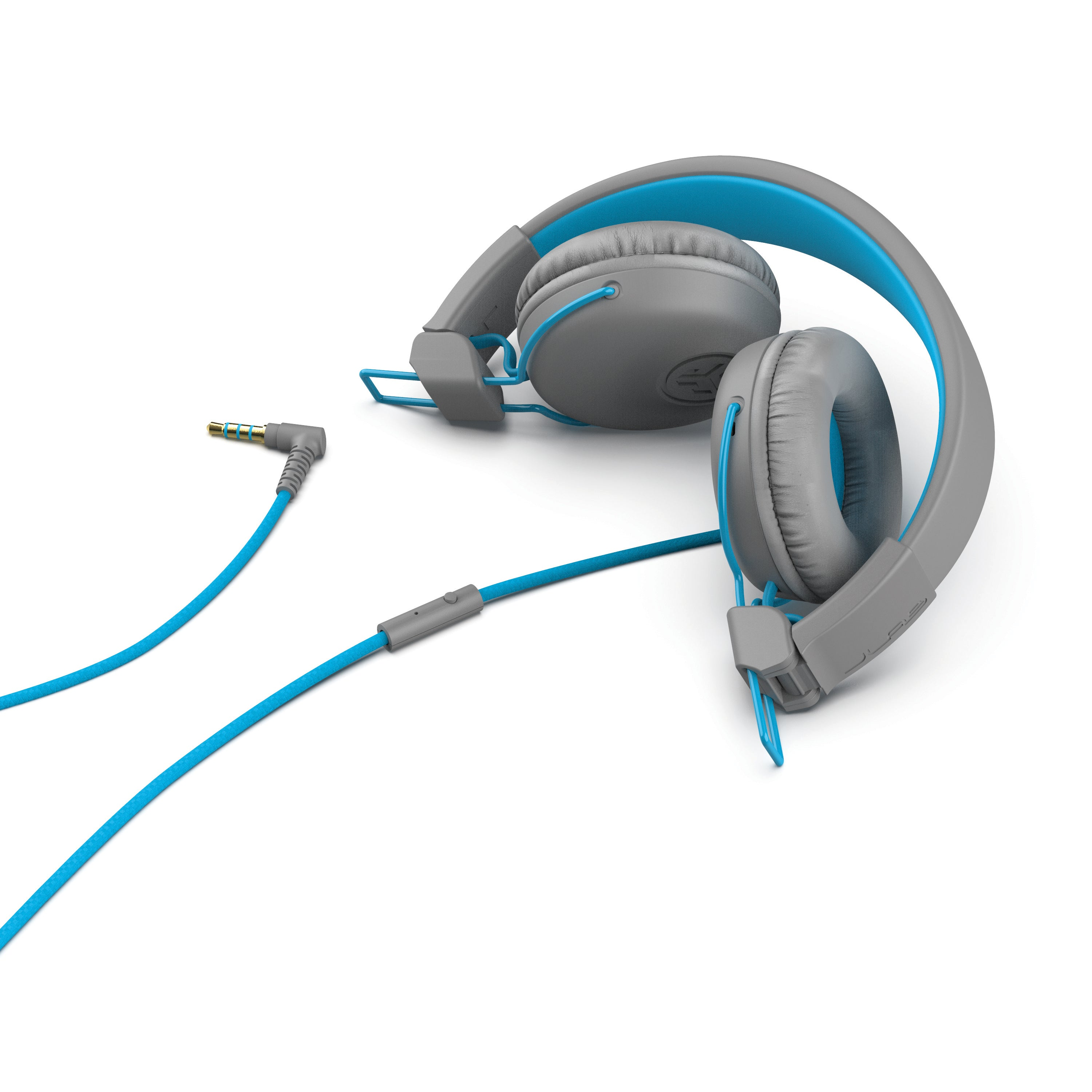 Studio On-Ear Headphones in blue folded
