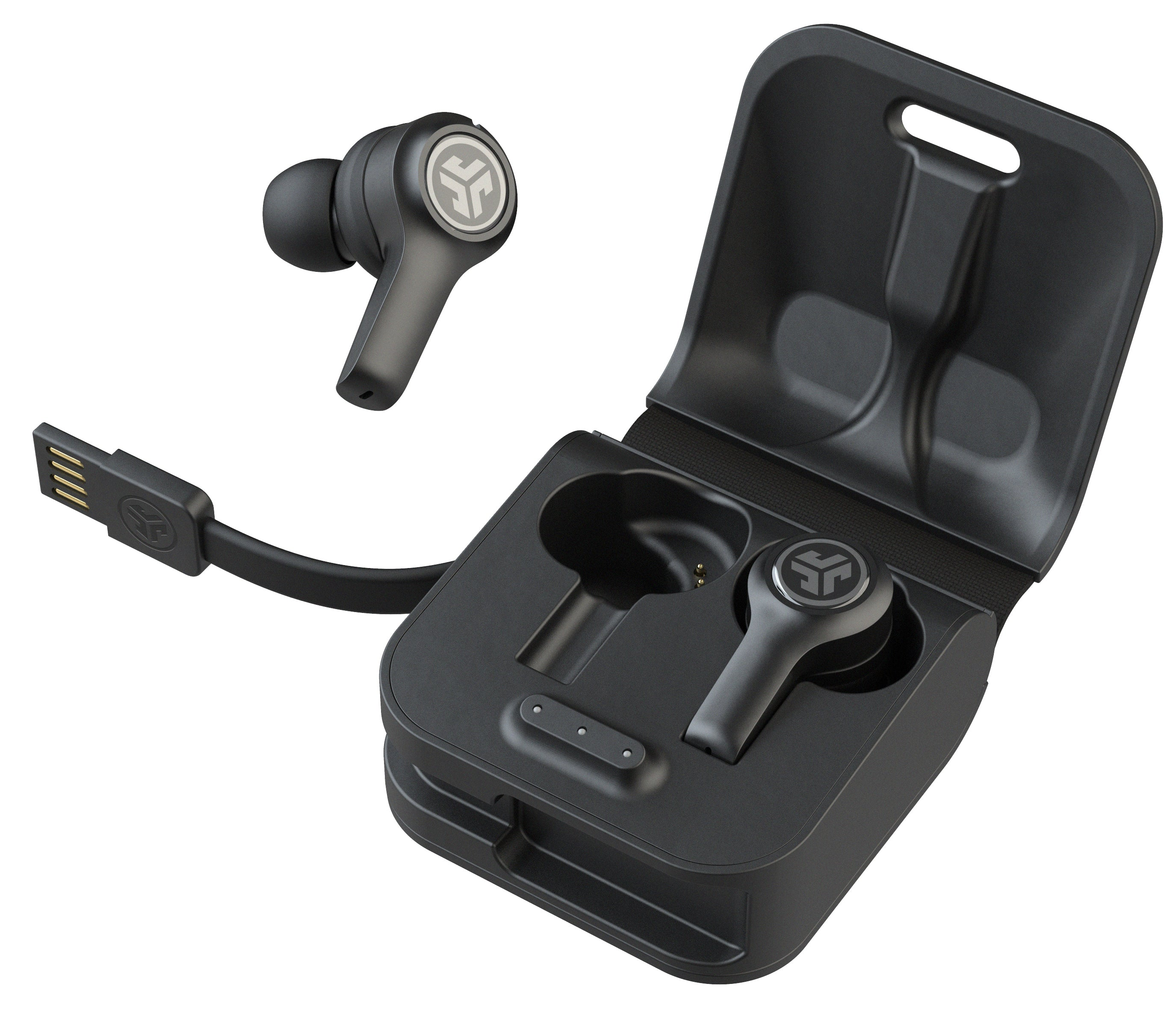 JBuds Air Executive True Wireless Earbuds com caixa de carga