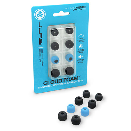 Cloud Foam™ Universal Earbud Tips Packaging Angled View