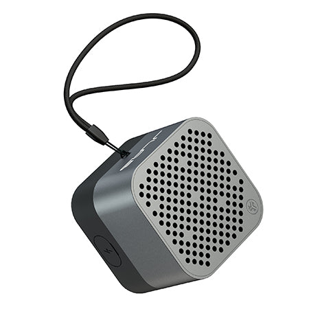 Gunmetal Crasher Micro Bluetooth Speaker Front View with Paracord Strap