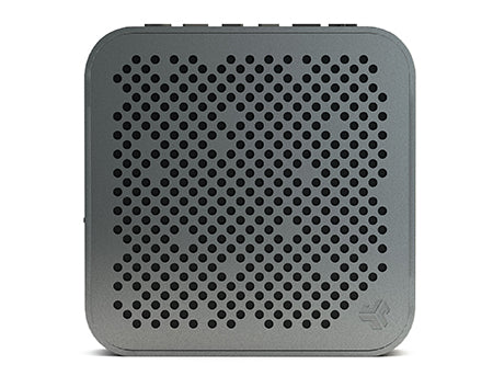 Front View of Gunmetal Crasher Mini Bluetooth Speaker