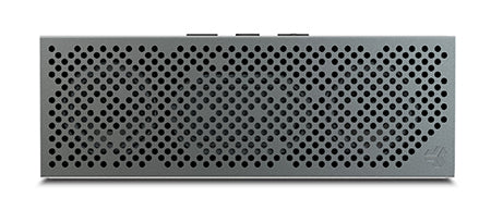 Front View of Gunmetal Crasher Slim Bluetooth Speaker