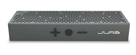 Front View of Gunmetal Crasher Slim Bluetooth Speaker with Buttons