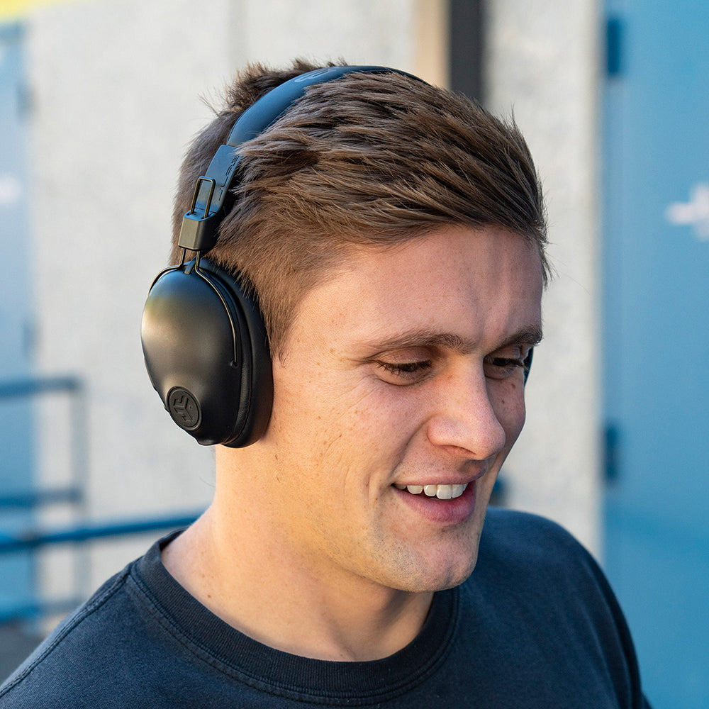 Man wearing black Studio Pro Wireless Over-Ear Headphones