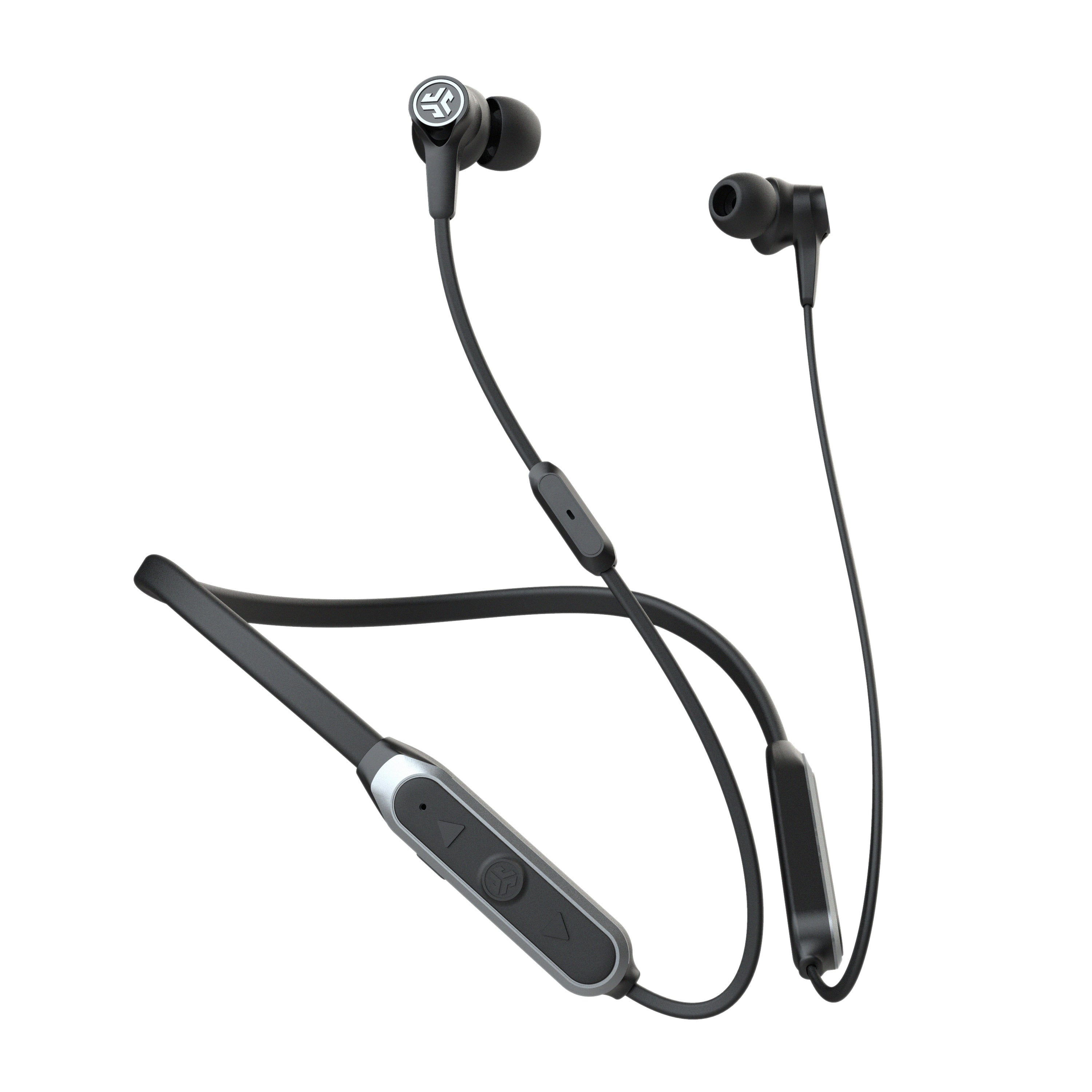 Black Epic Executive Wireless Earbuds with Controls and Cush Fins