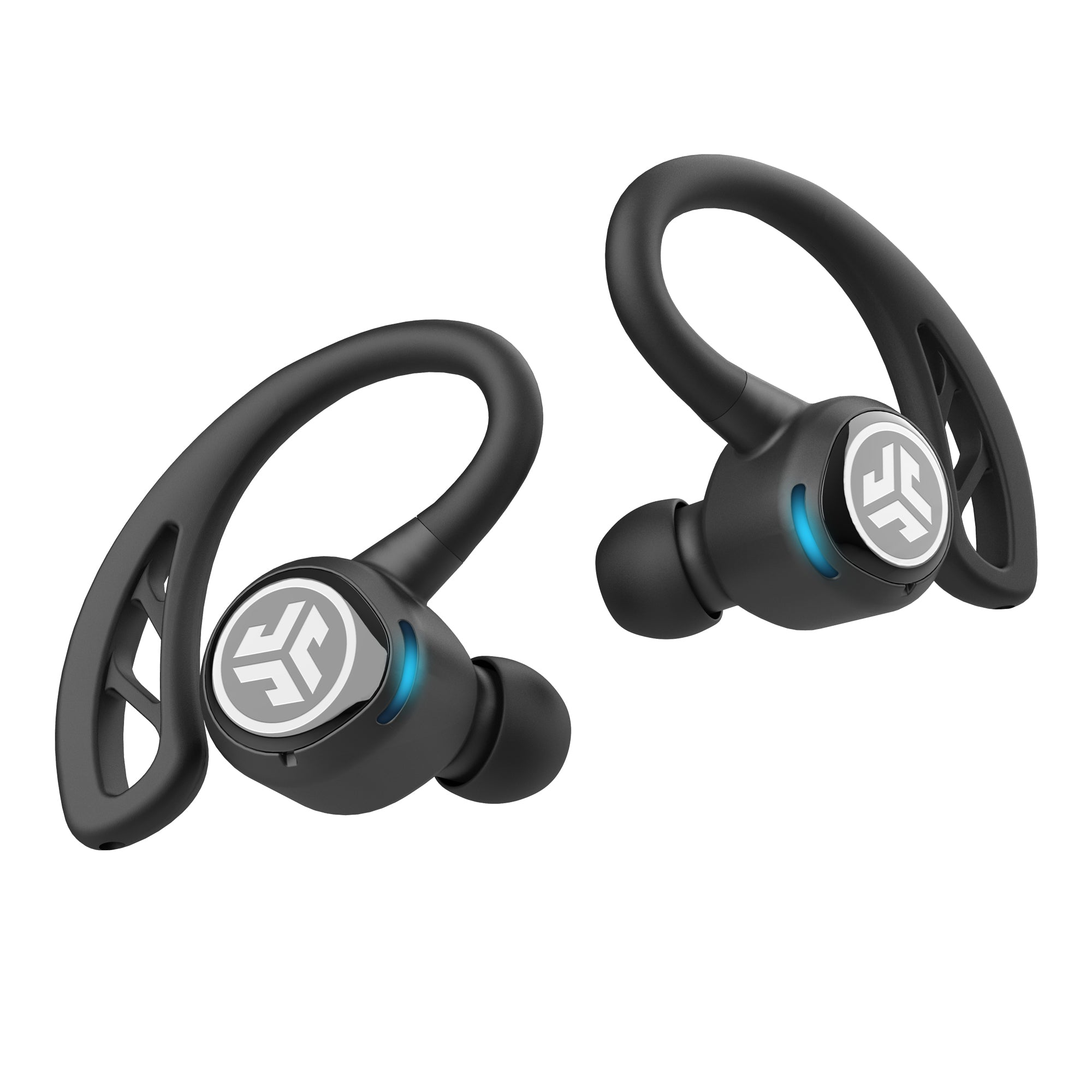 Primer plano de negro Epic Air Sport True Wireless Earbuds