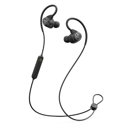 Negro Epic Sport Wireless Earbuds con micrófono y cable