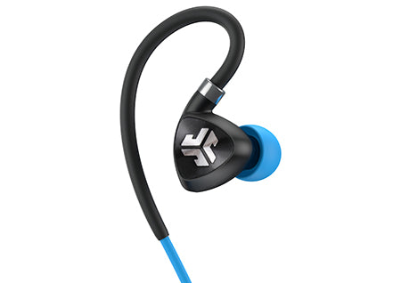 Nærbilde av Black and Blue Fit Sport 2.0 Wireless Fitness Earbud