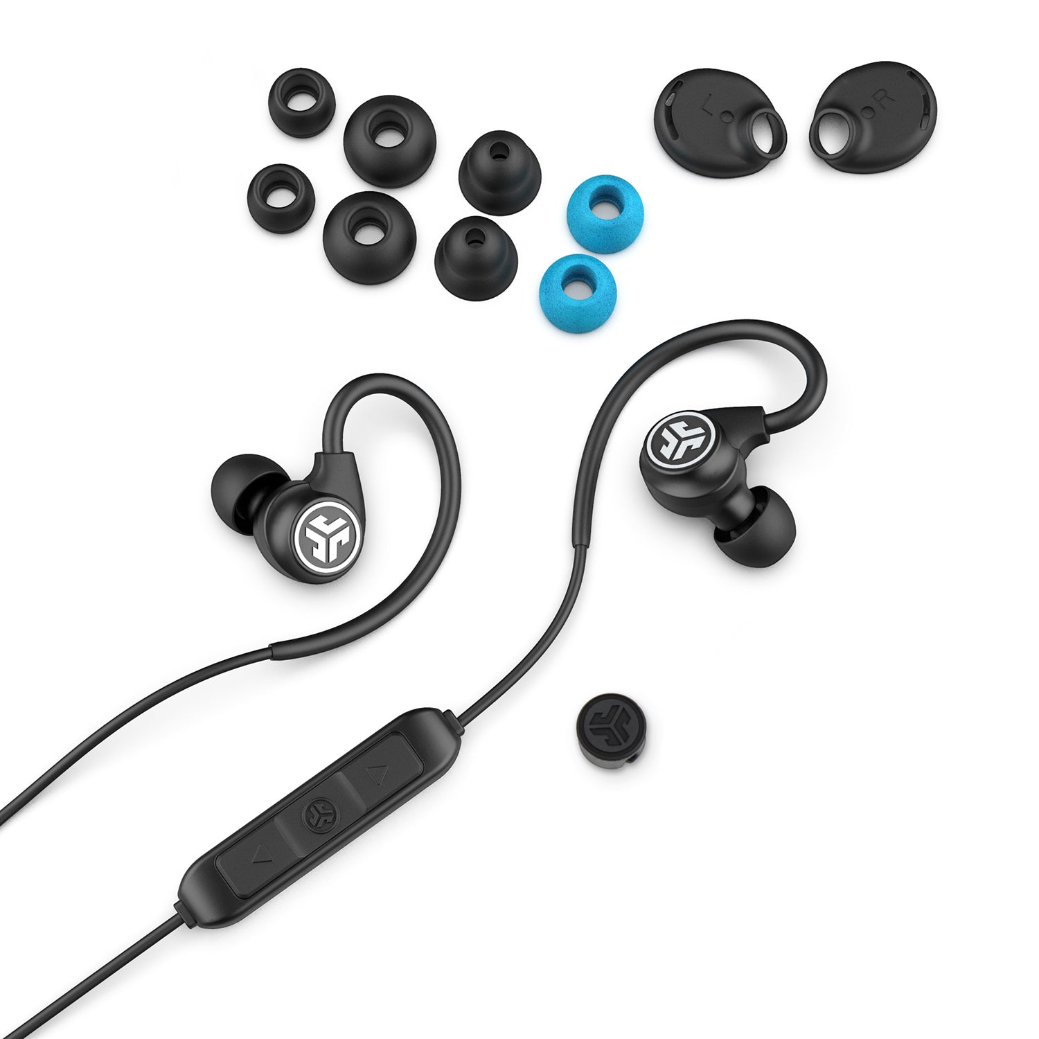 Fit Sport 3 Wireless Fitness Earbuds with accessories