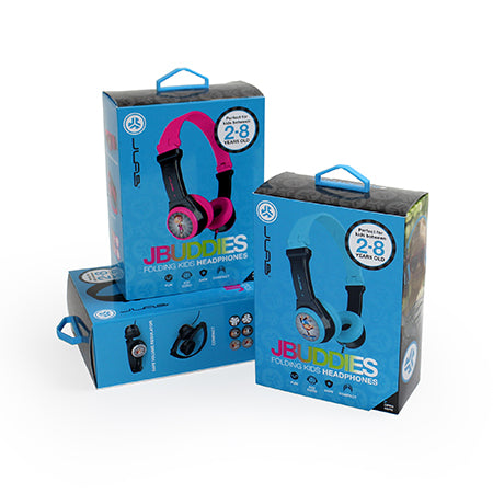 JBuddies Folding Kids Headphones Packaging