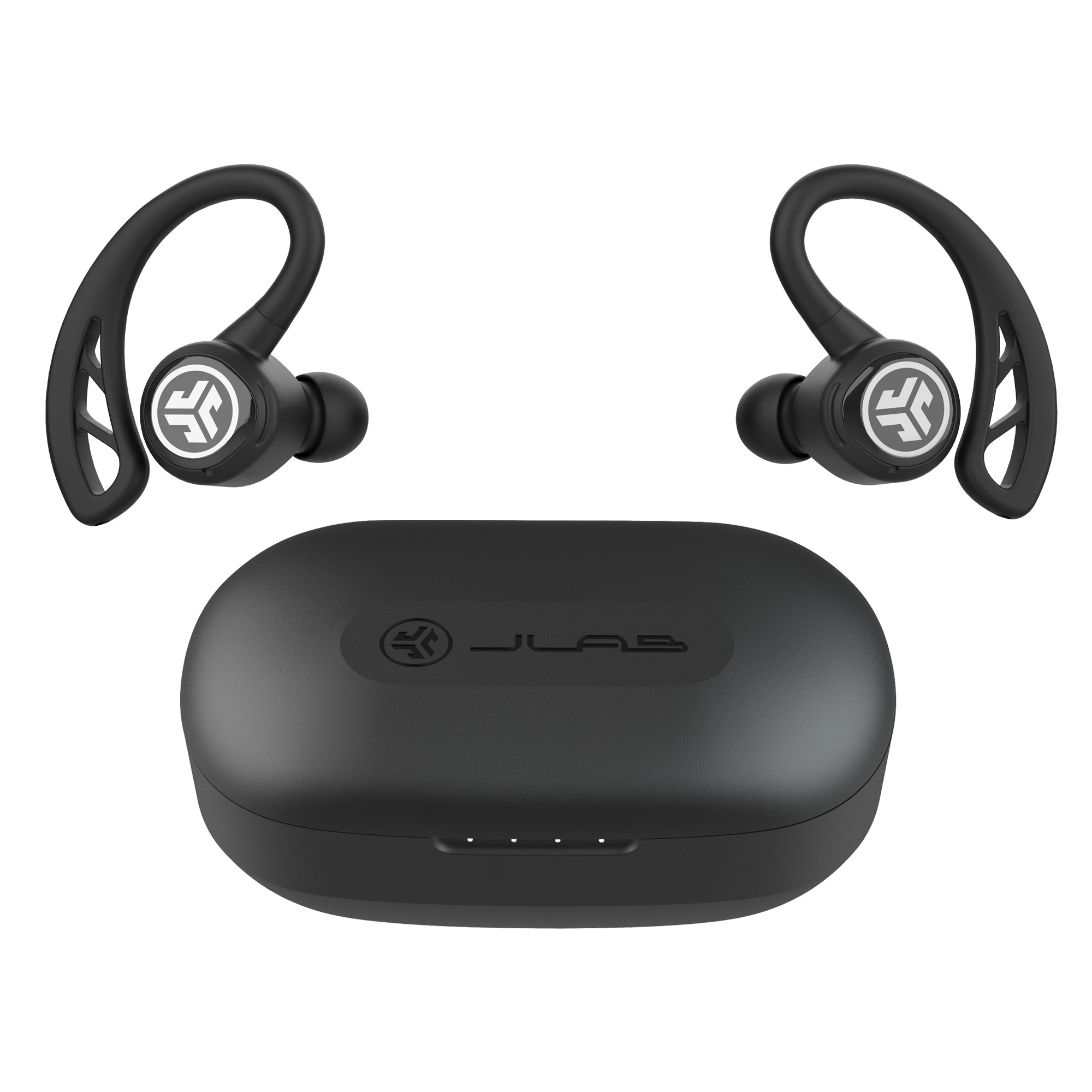 Black Epic Air Sport True Wireless Hörlurar med laddningsväska