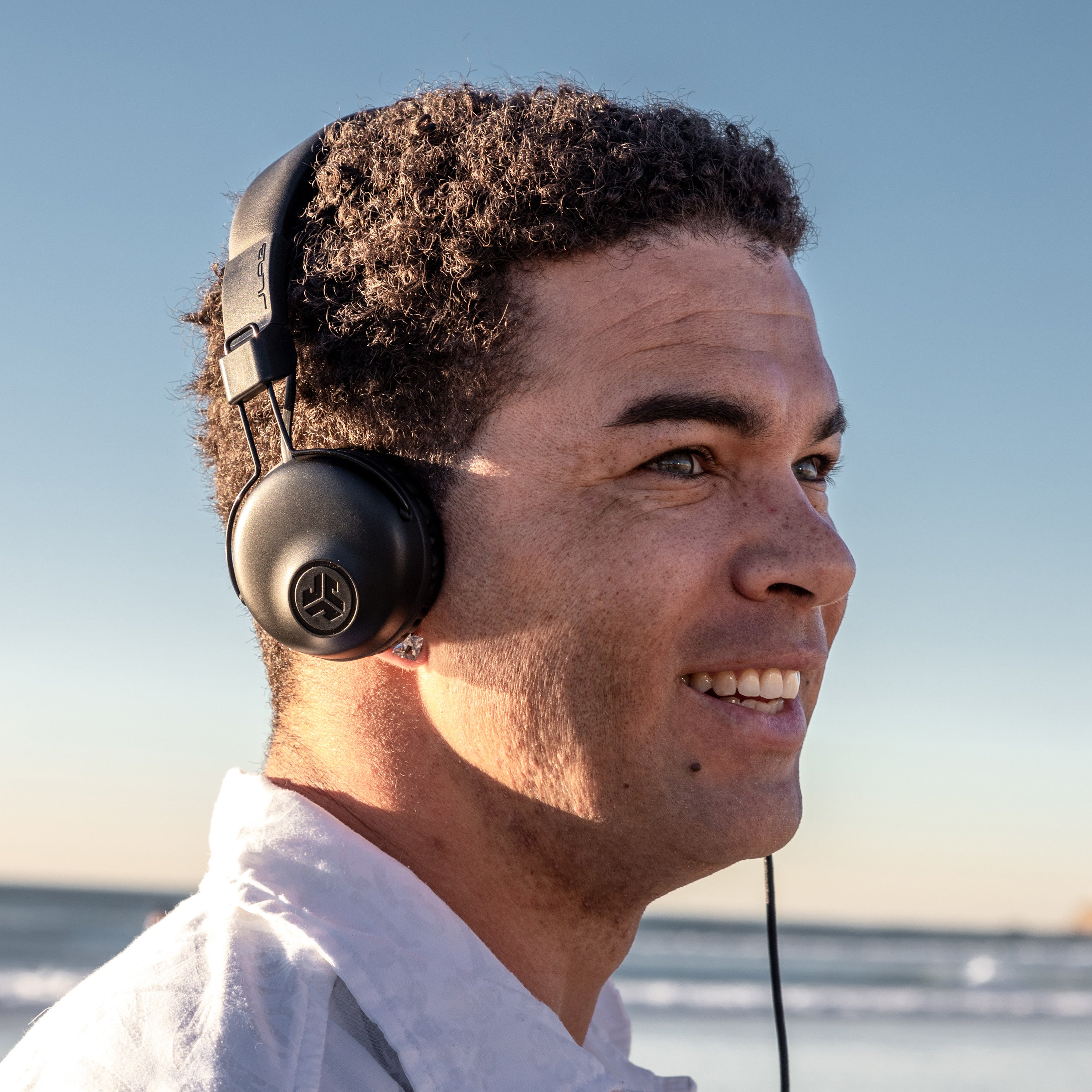 Guy wearing Studio On-Ear Headphones