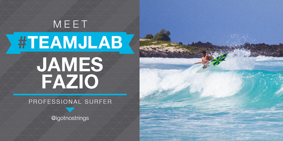 Meet #TeamJLab James Fazio, Professional Surfer