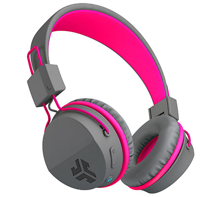 JBuddies Studio Bluetooth Over Ear Headphones in Pink