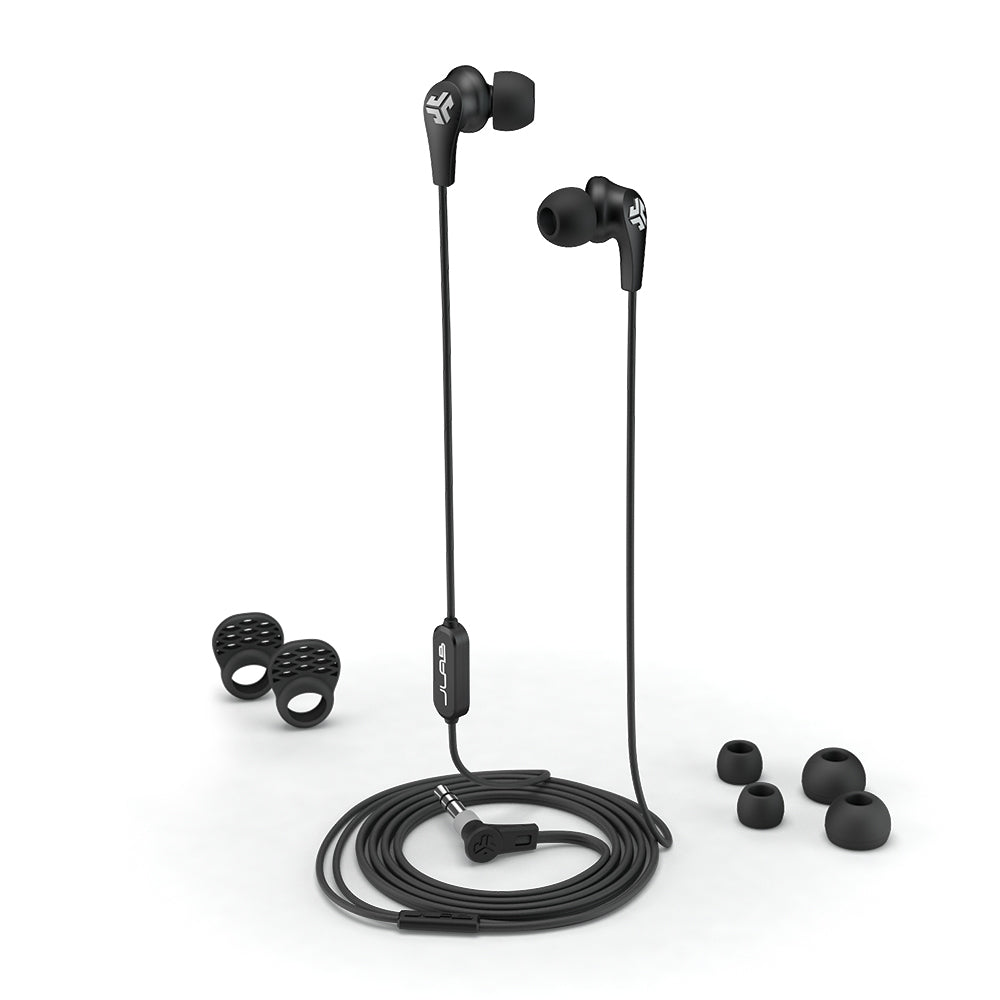 JBuds Pro Signature Earbuds with accessories