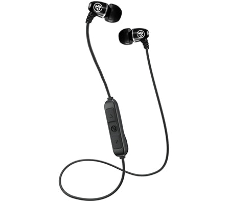 Metal Bluetooth Rugged Earbuds en negro