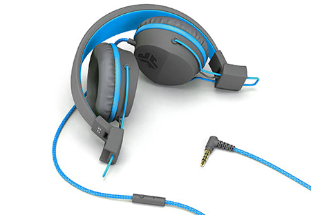 Neon On-Ear Headphones i blåt