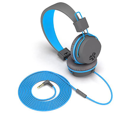 Neon On-Ear Headphones in blauw
