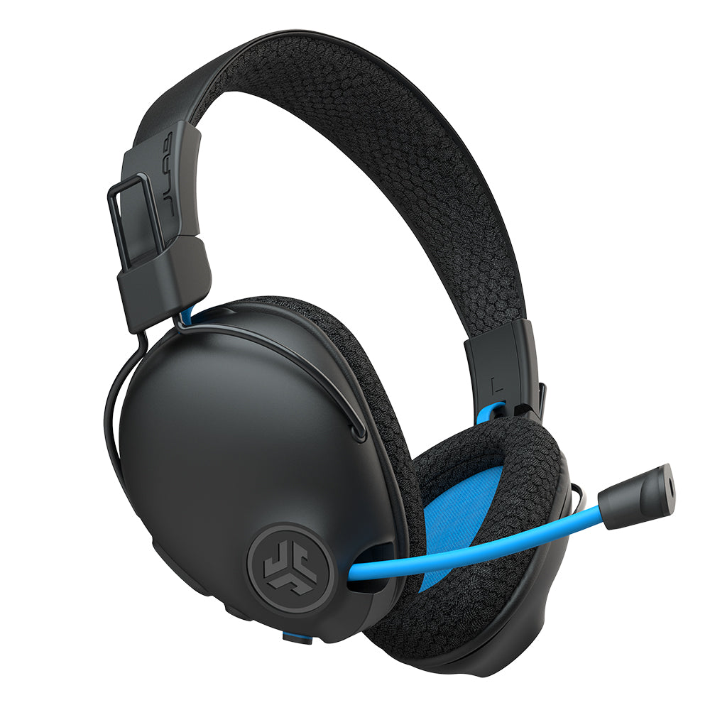 side view of Play Pro Gaming Headphones with boom microphone extending out from earcup
