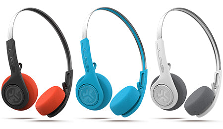 Rewind Wireless Retro Headphones in zwart, blauw en wit