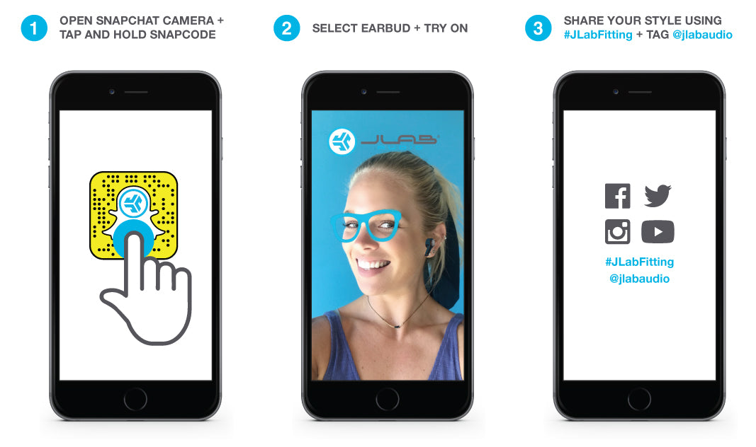3 Steps for Trying on Earbuds in Snapchat App and Sharing on Social Media