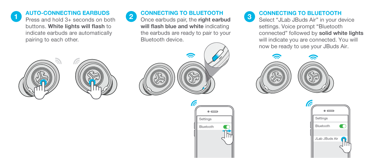 How to wirelessly connect your JBuds Air