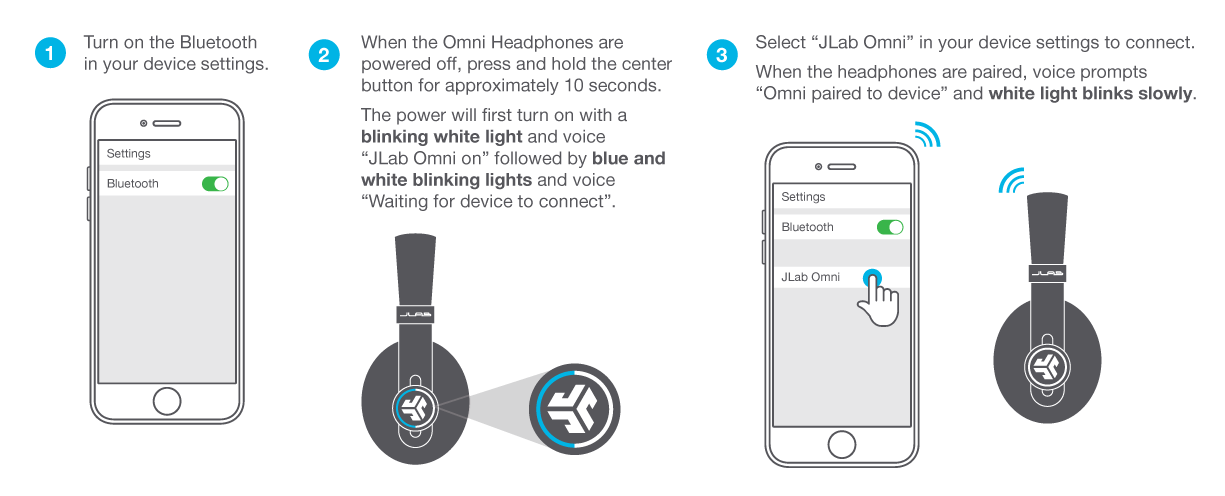 Omni Folding Bluetooth Over-Ear Headphones