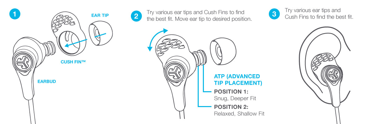 Montering av Epic Executive Earbuds