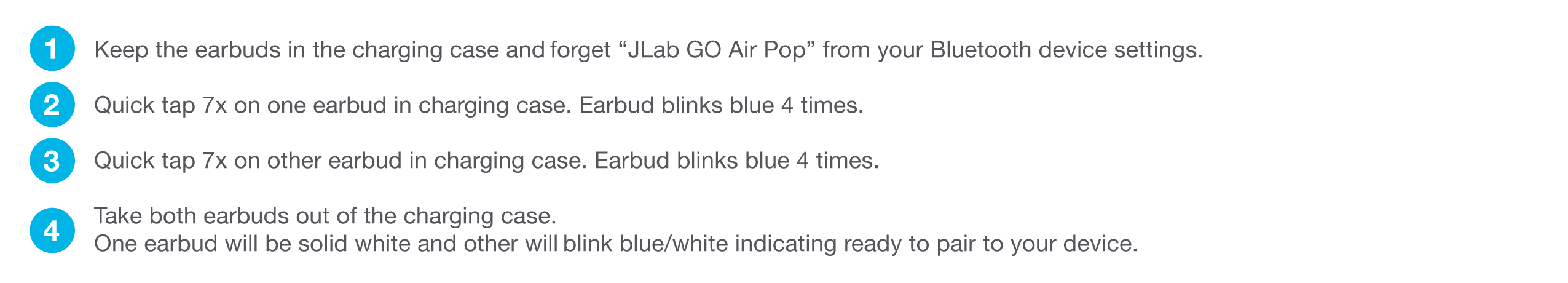 How to manually reset your GO Air Pop