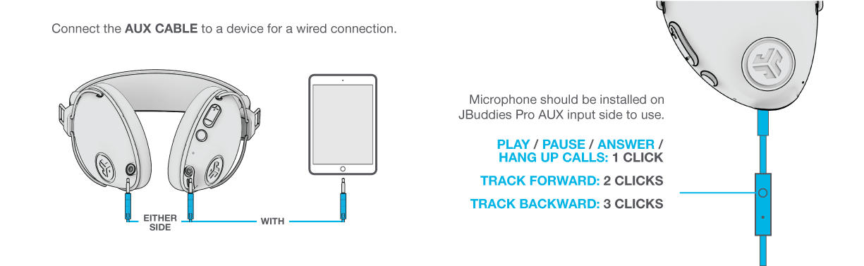 How to Use Wired Mode on JBuddies Pro Wireless Headphones