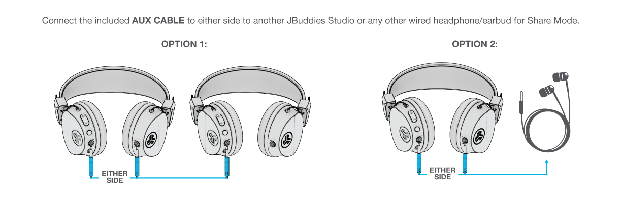 How to Use Share Mode on JBuddies Studio Wireless Headphones