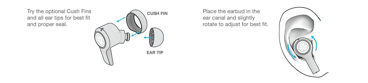 How to fit your JBuds Air Play Gaming Earbuds