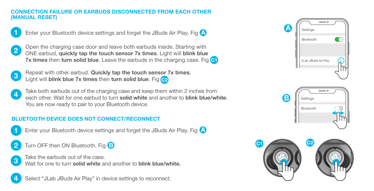 How to reconnect your JBuds Air Play Gaming Earbuds