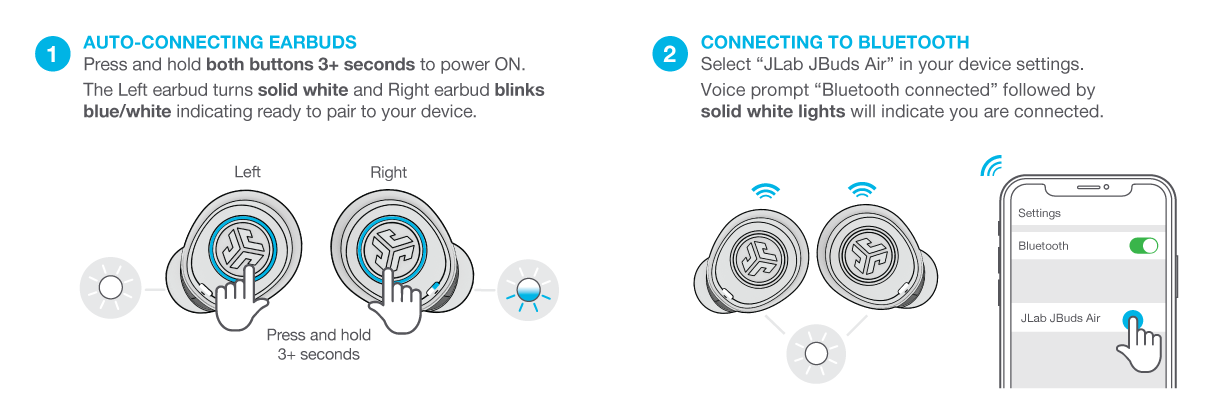 como wirelessly conecte seu JBuds Air