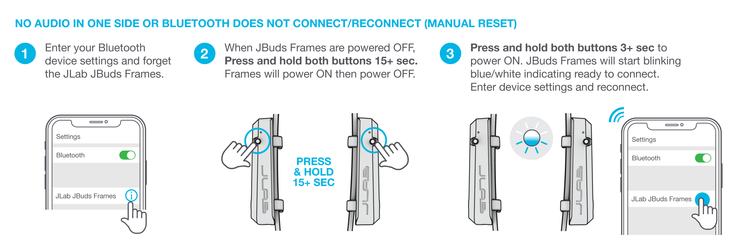 How to manually reset your JBuds Frames