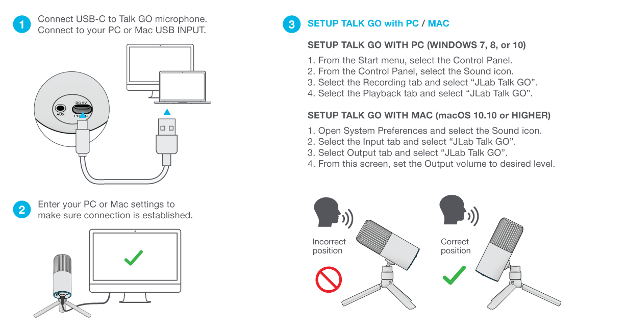 How to set up your Talk GO Microphone