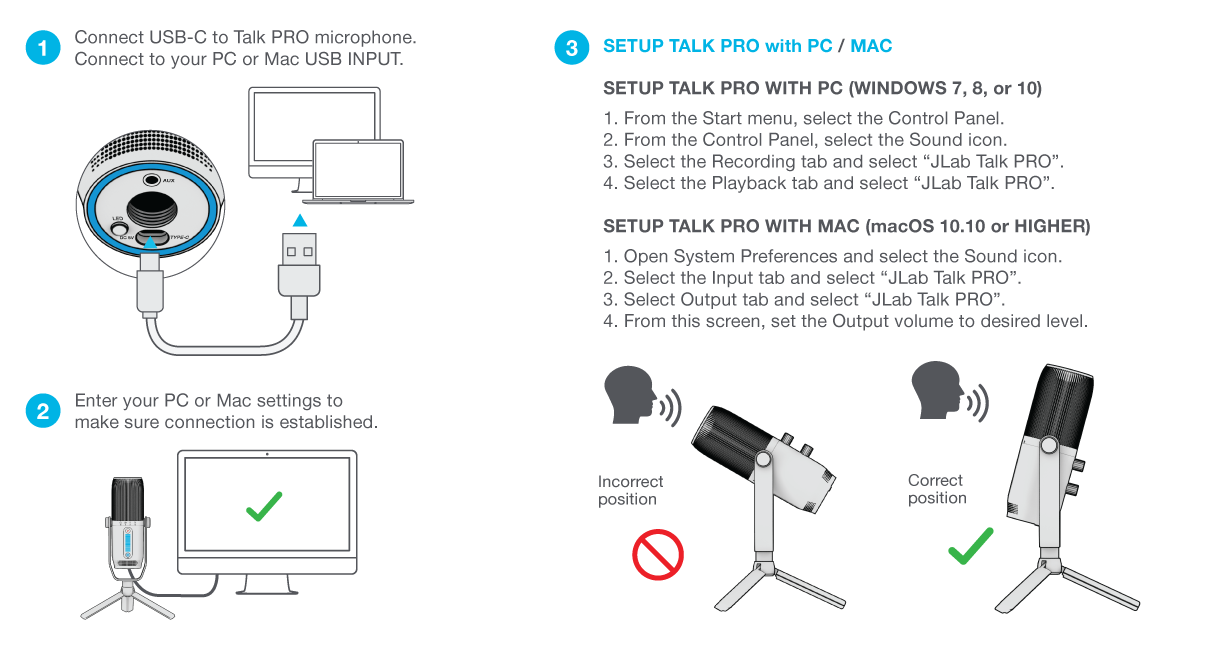 How to set up your Talk PRO Microphone