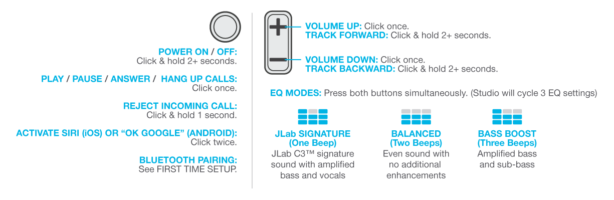 Power & Bluetooth Function for the Studio Headphones