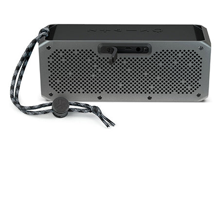 Front View of Gunmetal Crasher XL Bluetooth Speaker with Paracord