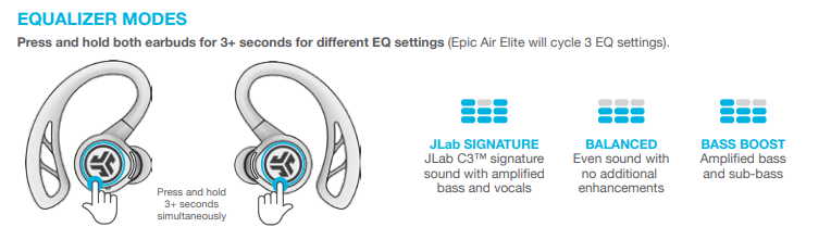 Changing your EQ settings for your Epic Air Elite