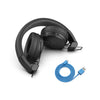 Studio Bluetooth Wireless On-Ear Headphones folded in black