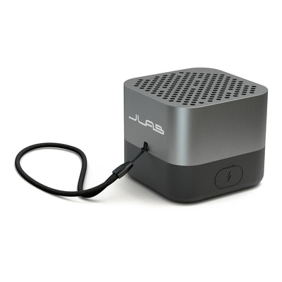Gunmetal Crasher Micro Bluetooth Speaker Side View with Paracord Strap