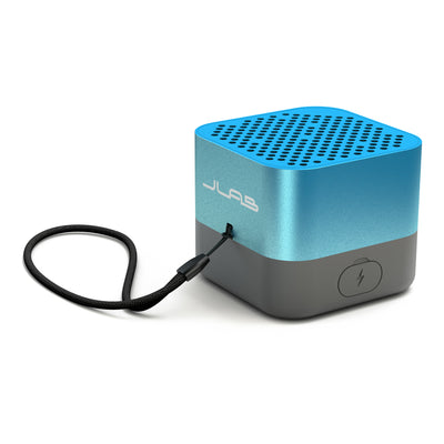 Blue Crasher Micro Bluetooth Speaker Back Side View with Paracord Strap